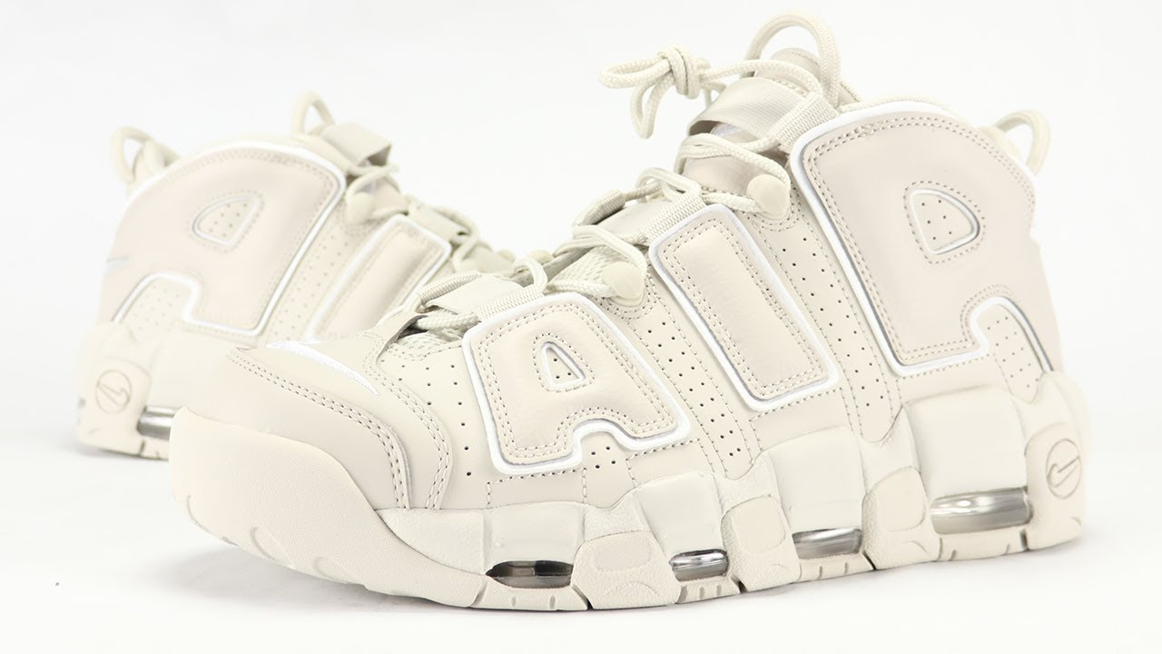 online retailer 87fb8 dfc5d NIKE AIR MORE UPTEMPO LIGHT BONE REVIEW + ON FEET