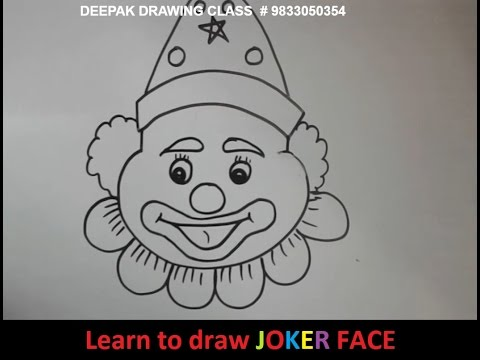 Learn To Draw Joker Face