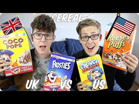 Cereal! British VS American | Evan Edinger & MyNamesChai