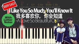 VeryEasy W LetterNotes A Love So Beautiful OST I Like You So Much You ll Know It Piano Tutorial