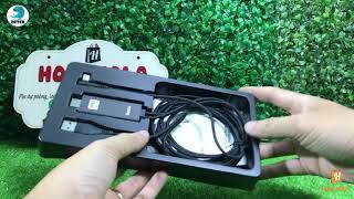 Cáp HDMI cho iPhone iPad cổng Lightning Hoco UA14 dài 2.0m (đen)