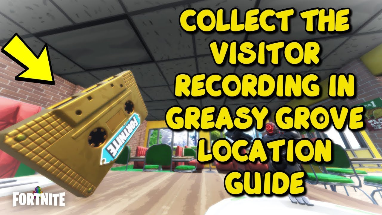 Collect The Visitor Recording In Greasy Grove Fortnite Game Out Of Time