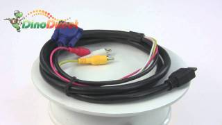 1 8m 6ft hdmi to 3rca vga converter adapter cable from dinodirect com
