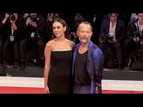 Thom Yorke and Dajana Roncione on the red carpet for the Premiere of Suspiria in Venice