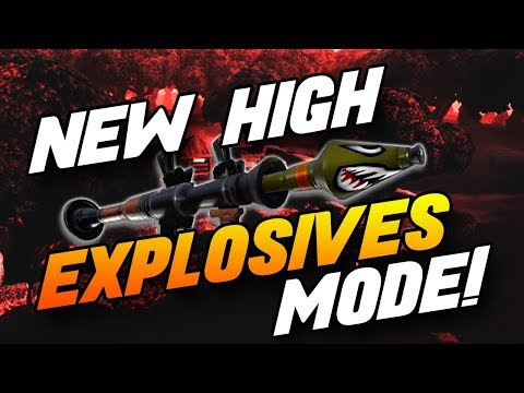 *NEW* HIGH EXPLOSIVE MODE - Fornite Battle Royale (INSANE WIN & Funny Moments)