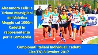 Cles 1000m Cadetti 2002 Campionati Italiani Individuali 8 Ottobre 2017