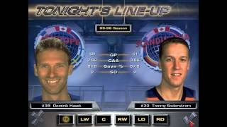 Team Europe vs Team Scandinavia - NHL 97 rosters & gameplay