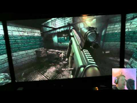 "Playing Killing Floor on triple 46"" screens with a few subs w/ POV camera"