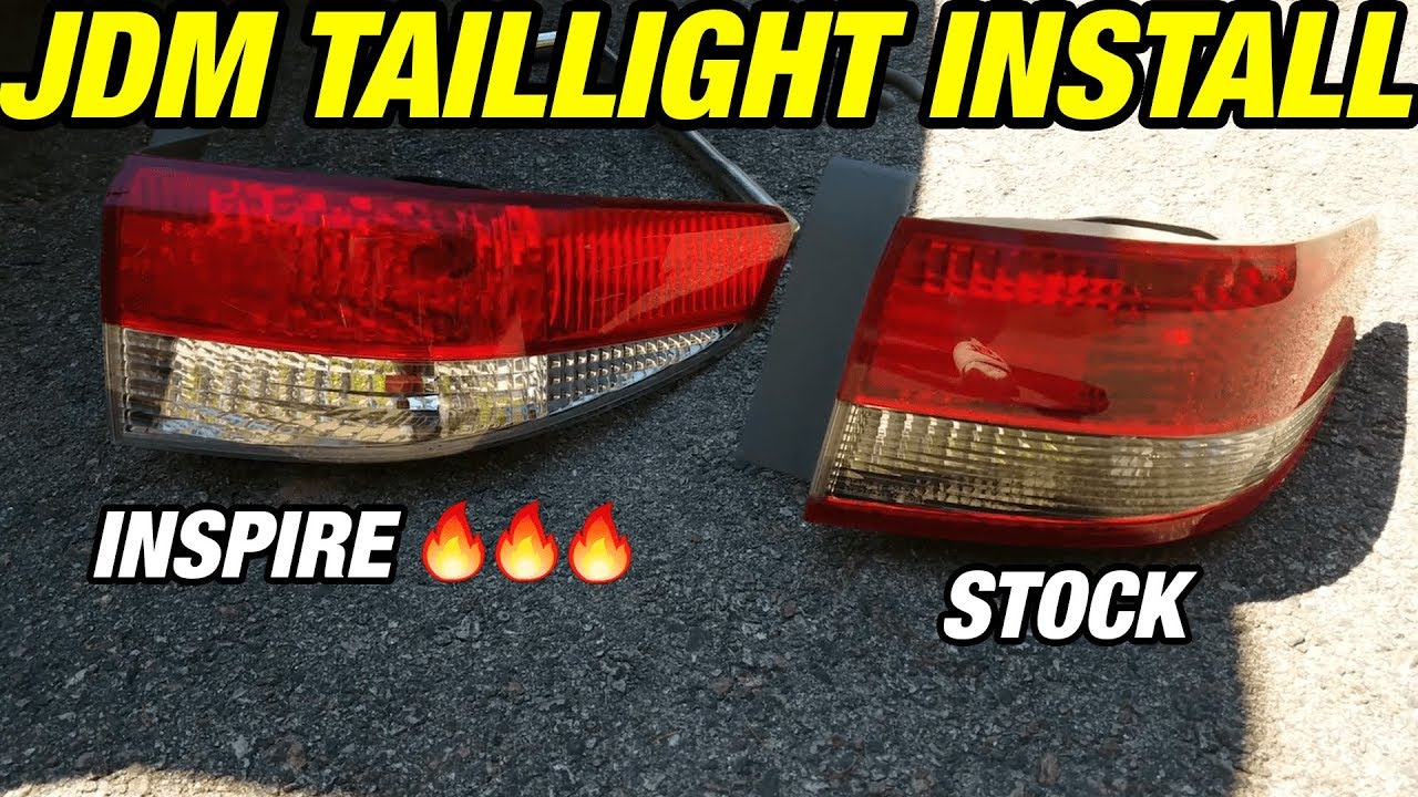 How To Install Jdm Inspire Tail Lights On A 7th Gen Accord 03 05 Sedan