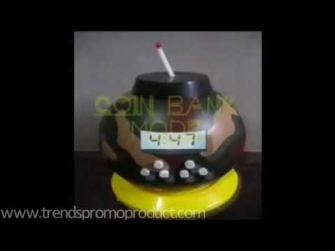 Bomb alarm clock toy with coin bank