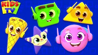 Shapes Song | The Supremes Cartoon | Learning Videos & Rhymes for Babies