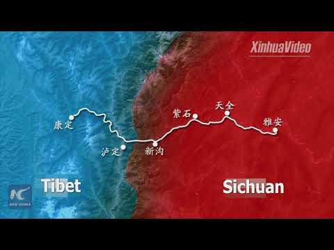 China's first bridge linking Sichuan and Tibet under construction