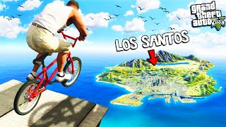 Jumping a BIKE over the ENTIRE MAP in GTA 5