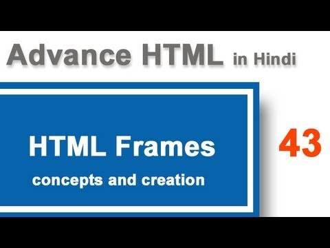 Concepts And Syntax Of HTML Frames In Hindi  | What Are Frames In HTML