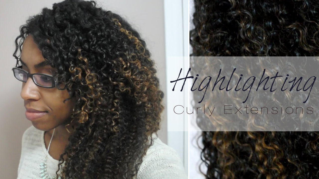 Diy Highlighting Curly Hair Extensions Youtube