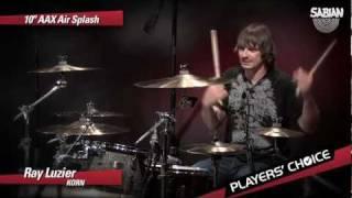 """SABIAN Players' Choice - Ray Luzier Demos the 10"""" AAX Air Splash"""