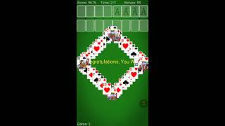 Solving game FreeCell solitaire No 2, solitaire card games free, how to play solitaire, Android ...