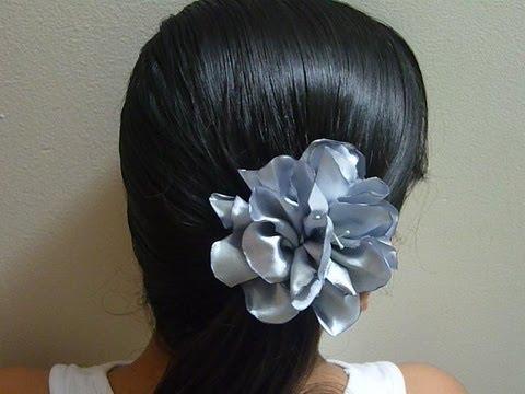 Como hacer flores de tela raso how to make raso fabric - Como hacer cuadros de tela ...