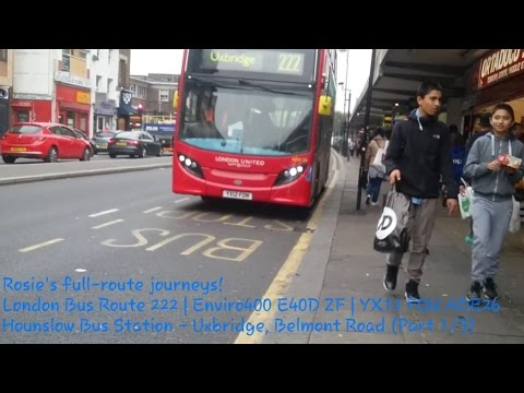 London with Rosalina - Route 222 (Enviro400 YX12 FON) Pt. 1/3; Hounslow Bus Stn. - Harlington Corner