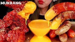 양념치킨&소세지먹방 치즈듬뿍 Korean Spi…