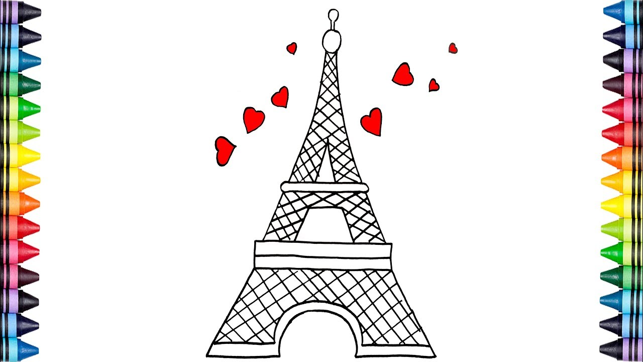 Como Dibujar La Torre De Paris Youtube