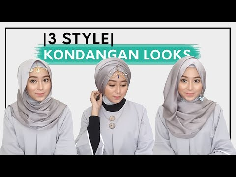 Tutorial Hijab : Pasmina Mewah Untuk Kondangan Pesta by RAYYA ID - YouTube