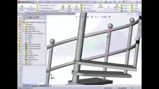 Tutorial Solidworks Italiano scala a chiocciola