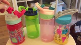 Kids water bottles: contigo and camelbak