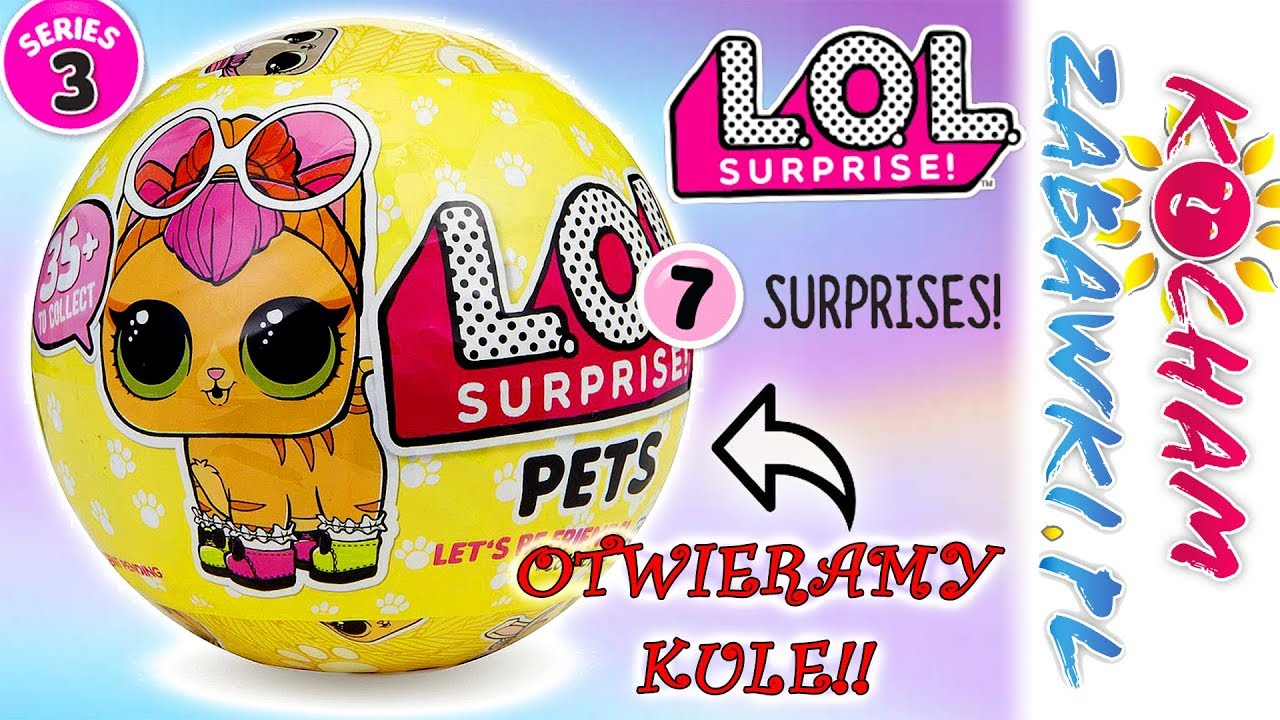 LOL Surprise Pets • Kule niespodzianki • Jakie zwierzątko jest w kuli? • openbox