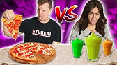 The Smoothie Challenge! REAL FOOD VS SMOOTHIE FOOD CHALLENGE