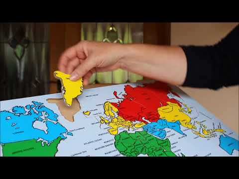 Map Of The World Wooden Puzzle