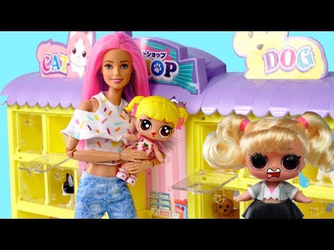 Barbie Family LOL Baby Goldie Pet Shop Adventures!  LOL Custom Dolls