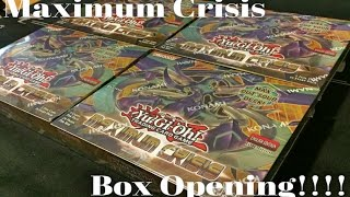 YUGIOH! *BEST* x4 Maximum Crisis Box Opening! What Did We Do to Deserve This!?