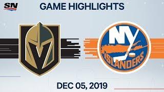 NHL Highlights   Golden Knights vs Islanders – Dec. 5, 2019