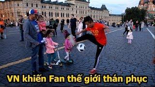 Thử Thách Bóng Đá World Cup 2018 : DKP khiến Fan thế giới thán phục Việt Nam với Skills như Ronaldo