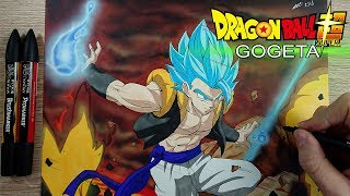 Drawing GOGETA | NEW Broly Movie Art Style |