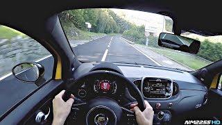 2017 Abarth 595 Competizione POV Drive on Winding Roads - Lovely Sounds!