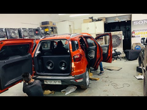 Installed High End Music System Inside Ford Ecosport | High End Music System For Ecosport