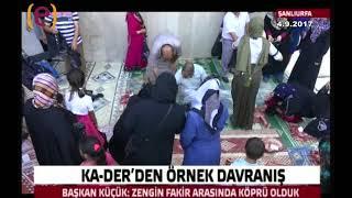 4.9.2017 Kur'an Aşıkları Derneği (KA-DER) Kurban Et Dağıtımı Edessa TV Haber