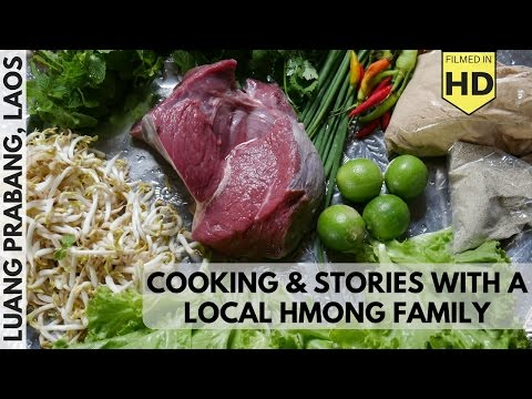 Laos Travel Vlog #7: Cooking and Stories with a Local Hmong Family