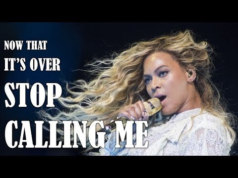 """beyoncé-""""now-that-it's-over-stop-calling-me!""""-high-note-compilation"""