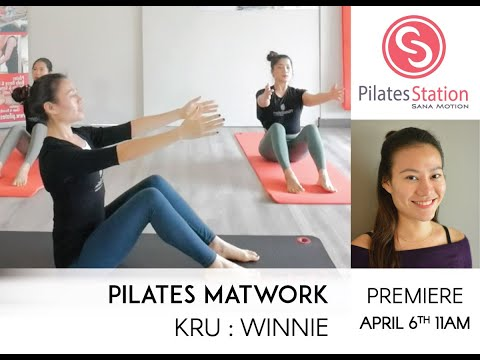 Pilates Matwork with Kru Winnie from China. | PREMIERE: 6 April 2020 @ 5pm | Length: 29min
