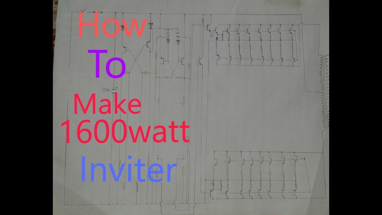 how to make inverter 1600 watt in hindi - YouTube