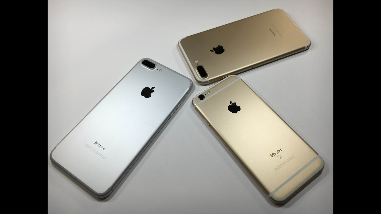 iphone 7 plus gold silver comparison w gold 6s youtube. Black Bedroom Furniture Sets. Home Design Ideas