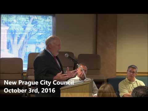 New Prague City Council October 3rd, 2016