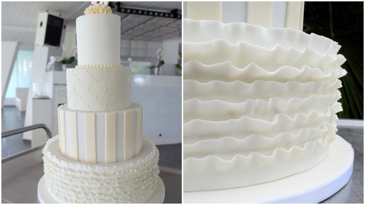 Fondant Ruffle Cake Tutorial Youtube