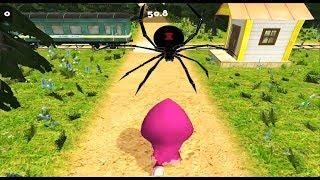 Смешная игра   Маша и Медведь про КОНФЕТНЫЙ парк развлечений с пауками! Догонялки в лесу про Машу!