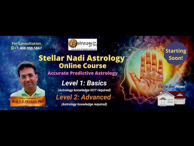 Stellar Nadi Astrology Class in TAMIL by Dr. K.V.N Prasad, Phd (Astrology)  on 6-18-21