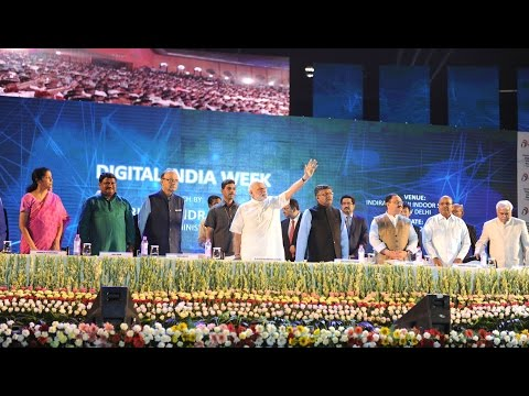 PM Modi at the launching ceremony of  Digital India Week