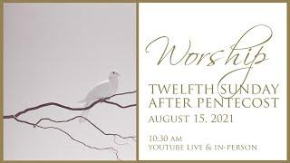 Twelfth Sunday after Pentecost August 15, 2021